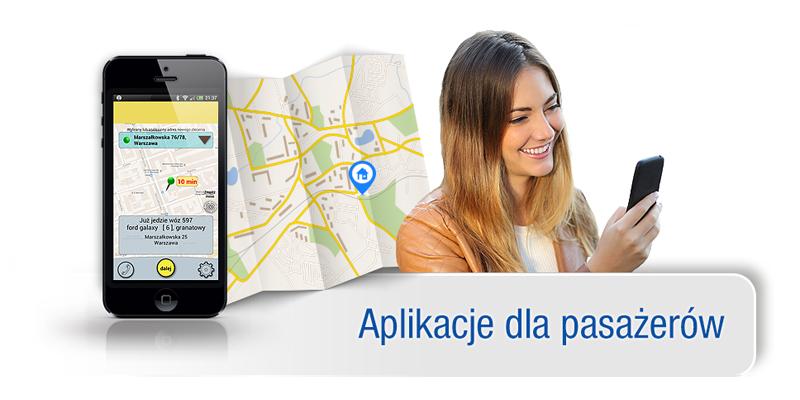System dla Taxi, programy na Centralę, dla Kierowcy i Pasażera